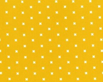 XOXO in Dandelion, Cotton+Steel Basics, Rashida Coleman Hale, RJR Fabrics, 100% Cotton Fabric, 5001-002