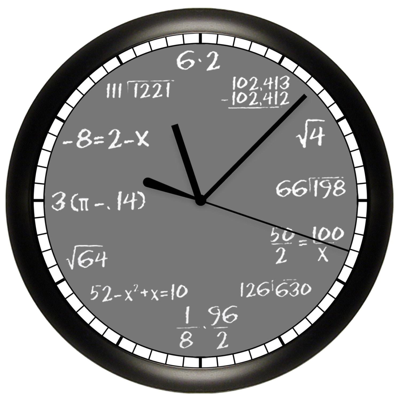 worksheet Clock Math math chalkboard wall clock mathematics teacher 10
