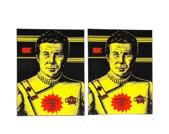 2 Star Trek Wrath of Khan Giant Photo Card Packs by FTCC 1982