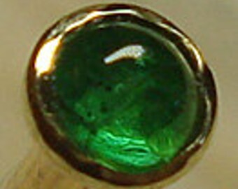 EMERALD, 14K, 2mm, nose jewelry, emerald nose, nose stud, nose screw, May birthstone, nose ring, green gems, emerald nose stud