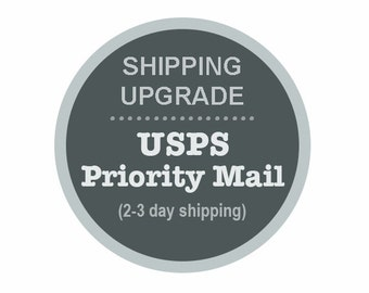USPS Shipping Upgrade to Priority 2-3 Day Mail