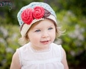 Crochet Pattern, Rosette Cloche, Hat Pattern, Newborn to Adult