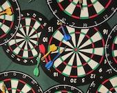 Dart Boards Darts Game Room Green Cotton Fabric Fat Quarter Or Custom Listing