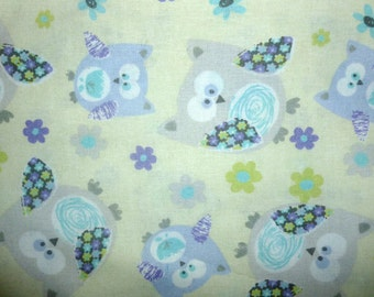 Sweet Owl Cotton Fabric by the Yard