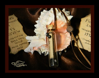 Message in a Bottle, A Castaways Note, & Pearl of enticement, featuring (Ice) Crystal encrusted Barnacles, by Elstwhen.