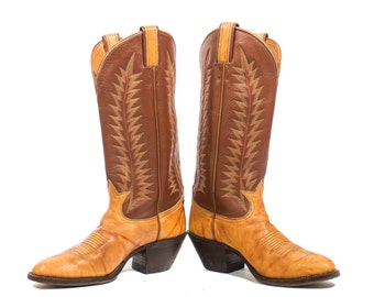 5.5 C | Cowboy Boots Tony Lama Country Western Boots in Two Toned Leather