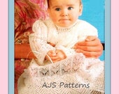 PDF Knitting Pattern for a Stunning Shetland Lace Christening Robe or Gown