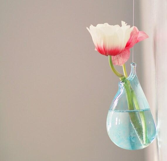 hanging terrarium vase hand blown glass art transparent. Black Bedroom Furniture Sets. Home Design Ideas