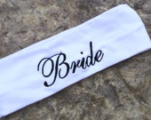 Bride Spa Headband, Sports Headband, Workout  Sweatband