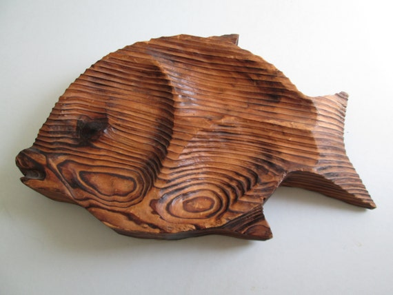 Fish Wall Decor Wood : Large fish wall decor wood plaque vintage by