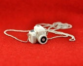 Personalized Canon 100D White camera miniature necklace