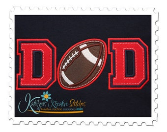 DAD Applique with Football