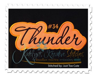 Thunder Applique Script