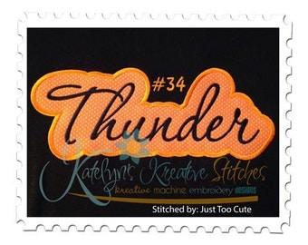 Thunder Applique Script
