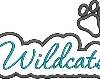Wildcats Applique Script
