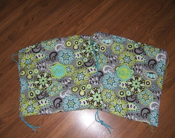Handmade Drawstring Cinch Sack Backpack (fabric choices and size choices available)