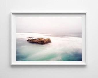 San Diego California Ocean Decor - La Jolla Pacific Ocean Seals Minimalist Art, Beach Home Decor - Small and Large Art Prints Available