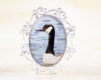 Canada Goose Brooch, Silver Bird Jewelry Brooch, Canadian Jewelry, Nature Jewelry Pin, Canadian Geese Bird Broach