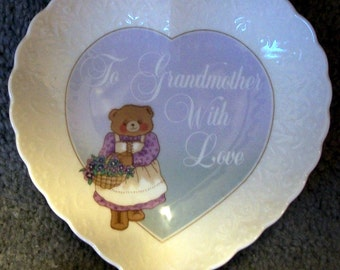 "Mikasa ""To Grandmother With Love"" Plate - With Hanger"
