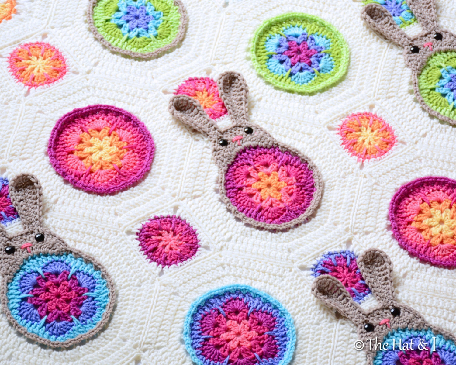 CROCHET PATTERN Bunnies R Us a blooming bunny