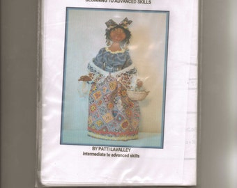 """Doll Pattern  """" Sukie of the South""""  created by Patti LaValley. Cloth doll."""