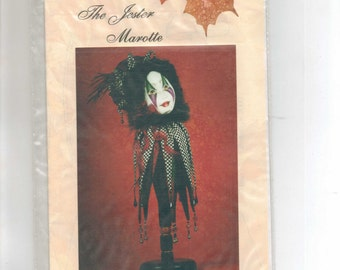 "Doll Pattern,""The Jester,""  Marotte Pattern by Leta Benedict."