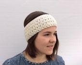Wool Headband, Ear Warmer, Wool Ear Warmer, White Headband,  Wool Ecru Headband, SpringTrends, Gift for Her, Winter Fashion