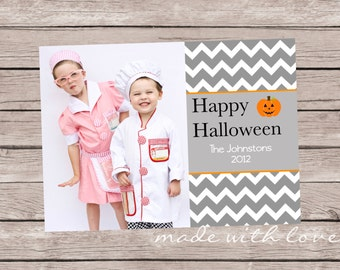 A Halloween Photo Greeting Card, personalized and printable, 5x7