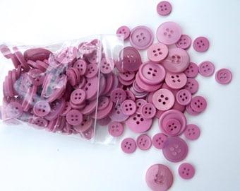 Pink 50g Button Bag