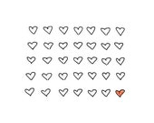 Sweet Valentine Art Print - Red Heart - 35 Hearts, Only One is Love