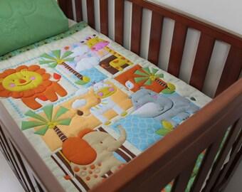 Quilt Baby Jungle Buddies & Pillow Case