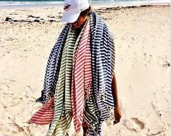 SALE Set of 2 Turkish Towel: Peshtemal, Bath, Beach, Spa Towel, Red and Black, spring, easter