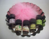 ALL COLLECTIONS Set Of 5 Sample 5/8 Dram Bottles From Lou Lou's Soaps, Scrubs, & Scents