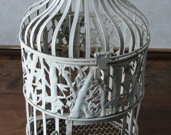Vintage birdcage victorian white chippy