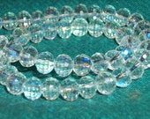 Clear Crystal AB Faceted Round beads-(6 mm)-full strand