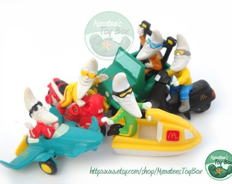Vintage McDonalds Mac Tonight Toys: Set of 5