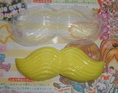 Extra Large Mustache Clear Soft Flexible Casting Resin No Release Needed Resin Mold Jewelry Flatbackden Cab Cabochon