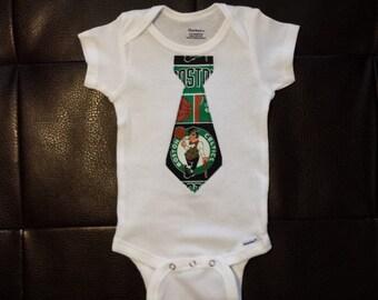 Boston Celtics Tie Onesie