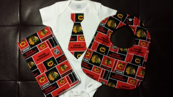 Boutique Chicago Blackhawks Baby Gift Set