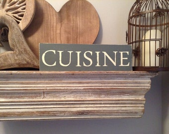 Handmade Wooden Sign - CUISINE - Rustic, Vintage, Shabby Chic
