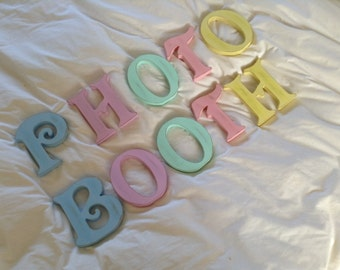 Photo Booth - Wooden Free Standing Letters - Victorian Style - Various Sizes, Colours and Styles