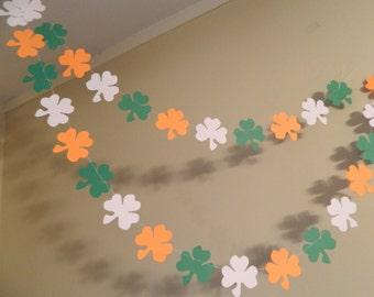 Shamrock Garland - St Patricks Day Decorations - St patty's Garland- St Patrick's Day Garland - Photo prop
