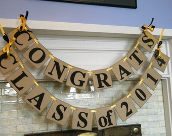 CLASS of 2017 Banner /Graduation Party Decorations / High School Graduation Banner/ Class of 2017 Decor /You Pick the Colors