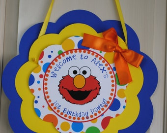 NEW - Elmo Door Sign