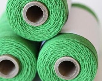 100% Cotton Twine Peapod Bakers Twine The Twinery 240 Yard Spool Solid Peapod Green Twine