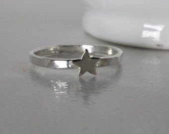 Sterling Silver Tiny Star Ring