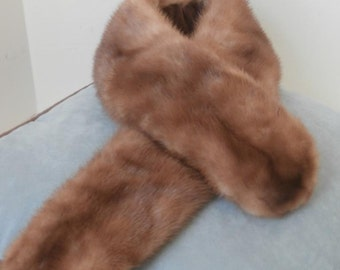 Light Brown Mink Scarf or Removable collar