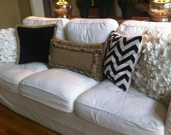 Lumbar Pillow Burlap Pillow Accent Pillow