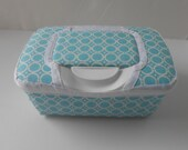 Baby Wipes Container Light Blue With Circle Design
