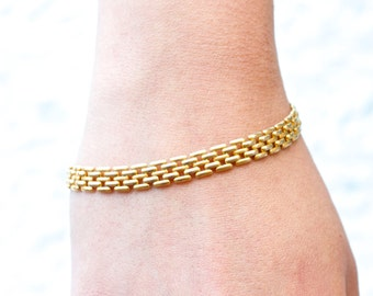 Gold Droplets Eighties Bracelet